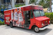 Budweiser distributor truck at Grand Cayman