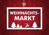 White Frame Red Ornaments Christmas Market