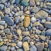 Background Of Smooth River Stones