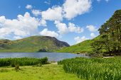 Summer Crummock Water Lake District North West England UK between Buttermere and Loweswater