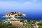 St. Stefan Town In Croatia In Adriatic