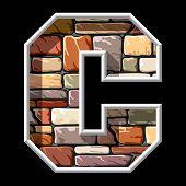 Stone Letter C