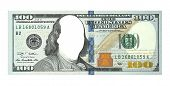 New Hundred Dollars Bill, No Face, Clipping Path