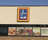 Aldi Sign On A Store Front