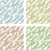 Set of Geometric Retro patterns