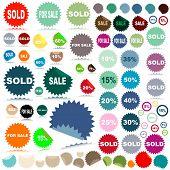 sale stickers; illustration