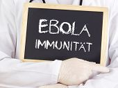 Doctor Shows Information: Ebola Immunity In German Language