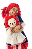 picture of rag-doll  - An adorable little girl  - JPG