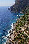 Krupp Street In Capri, Italy