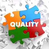 Quality - Concept Multicolor Puzzle.