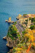 Quayside Of The Town Taormina