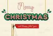 Merry Christmas Creative Greeting Card
