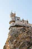 Swallow's Nest Castle On Top Aurora Rock, Crimea