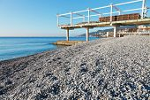 Massandrovskiy Pebble Beach In Yalta