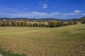 walk around the lake in autumn Navarra Pamlona