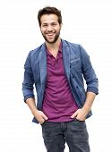 Attractive Young Man With Beard Laughing