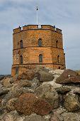Gediminas Tower on Castle Hill in Vilnius, Lithuan