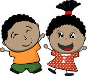 black children cartoon
