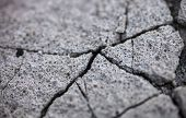 Close Up Of The Cracked Concrete Surface