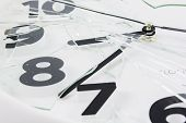 White Clock Is Broken Glass Isolated