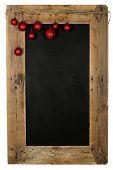 Chalkboard Christmas Restaurant Menu Board Reclaimed Wood Xmas Balls