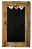 Chalkboard Christmas Restaurant Menu Board Reclaimed Wood Tin Heart Decoration