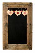 Happy Valentine's Day Love Chalkboard Restaurant Menu Board Reclaimed Wood
