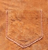 Original Background For Design  In The Form Of Pocket In  A Velours Leather