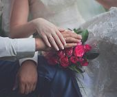 Bride And Groom, Hands