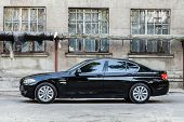 KIEV, UKRAINE - JULY 27, 2012: Side view of a 7 series BMW car