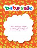 baby sale with colorful background