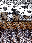 Animal prints assortment poster