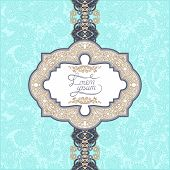 unusual floral ornamental template with place for your text, ori