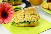 Curried Egg And Lettuce Roll