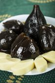 Figs with honey ecuadorian dessert higos con queso