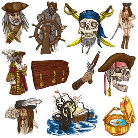 image of kraken  - Pirates Buccaneers and Sailors  - JPG