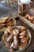 stock photo of french pastry  - French pastries and cakes in a bakery - JPG