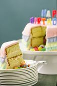 image of pinata  - Series on Pinata Cake a celebration cake with a hidden stash of sweets inside - JPG