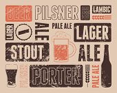 picture of drawing beer  - Typographic retro grunge beer poster - JPG