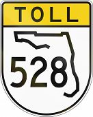 pic of state shapes  - US toll road shield Florida - JPG
