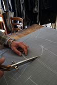 picture of tailoring  - Real tailor working near Assisi in Italy  - JPG