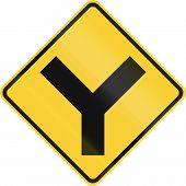 foto of intersection  - United States road warning  - JPG