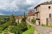 foto of naturel  - Main treet in Saint Cirq Lapopie in France - JPG