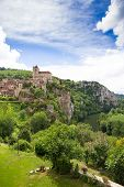 picture of naturel  - Village of Saint Circ Lapopie in France on a summers day - JPG