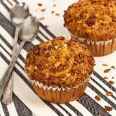 pic of pecan  - Crunchy Granola Peach Muffins with Butter Pecan Toppings - JPG