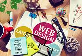 stock photo of creativity  - Web Design Content Creative Website Responsive Concept - JPG