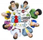 pic of idealistic  - Diversity People Leadership Management Looking Up Concept - JPG