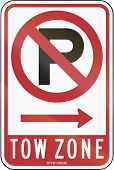 picture of towing  - US road sign - JPG
