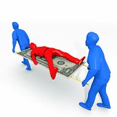 stock photo of payday  - An illustration related to bankruptcy and debt settlements - JPG