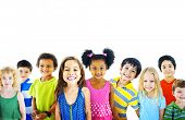 foto of little kids  - Ethnicity Diversity Group of Kids Friendship Cheerful Concept - JPG